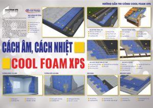 hình mô phỏng chi tiết cách thi công tấm xốp nén cách nhiệt Cool Foam XPS